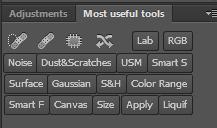 Custom panels in Photoshop - Configurator